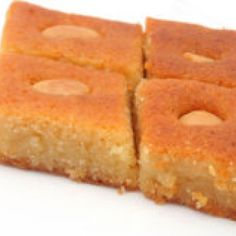 This sweet semolina cake with rose water and lemon syrup is very ...