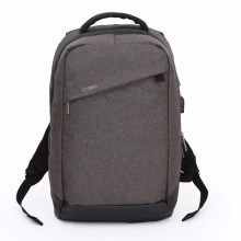 DTBG Fashion Outdoor Waterproof Backpack Travel School Bag with USB Charging Function for 15.6-inch Laptop (YC-D8063W) - Brown