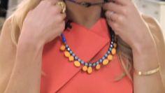 Kelly Ripa 2-10-12 | Necklace: Tom Binns Dress: Roland Mouret Mordecai Cutout Back Dress #FashionFinder