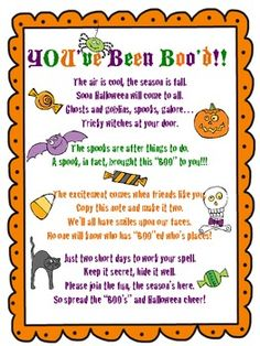 You've Been Boo'd Halloween Fun FREEBIE