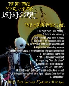 """Our 'The Nightmare Before Christmas' drinking game will get you drunk before the first """"what's this?"""" is asked."""