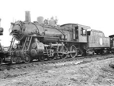 """Atlantic Coast Line 4-6-0 Tenwheeler, Class K-15, Steam Locomotive # 1028. The Class K-15 locomotives had 64 inch drivers and were used in freight service all around the railroad. These locomotives were know as a """"Copper Head"""" on the ACL. Courtesy of the Chester Holley Photo Collection."""