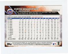 2016 Topps Holiday Baseball #HMW44 Curtis Granderson Back
