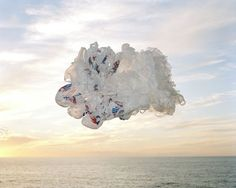 Photography by Elspeth Diederix / cloud of plastic bags