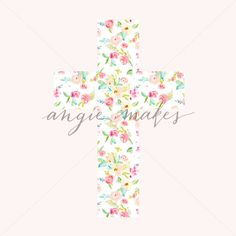 Beautiful Cross Background. Printable Cross Background Perfect for Easter, Baptism Invitations for Girls, and Your Creative Projects