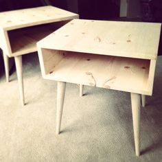 20 Adorable DIY Nightstands - follow the link; some cute ideas