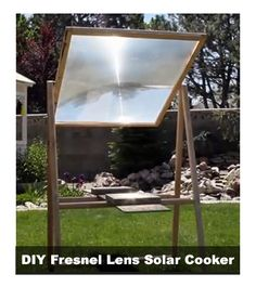 DIY Fresnel Lens Solar Cooker - Generates up to 2000F in heat...