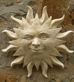 Garden Wall Plaques : Sun & Moon Wall Plaques : Smiling Sun Wall Plaque