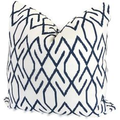 White and Navy Blue Trellis Decorative Pillow Covers Square, Eurosham or Lumbar Pillow - Accent Pillow Navy Pillows, Accent Pillows, Bed Pillows, Pillow Set, Lumbar Pillow, Pillow Talk, Navy And White, Navy Blue, White Trellis