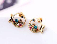 Colorful Crystal Fish Fashion Earrings   LilyFair Jewelry, $12.99!