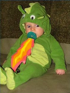 You need to have another baby so I can make this costume for them. Love the fire binky!
