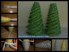 Návod na stromek... arbolito hecho desde la punta, otra forma de hacerlo...