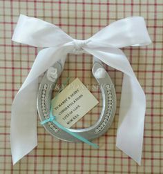 HorseshoeWedding Day Gift for her horseshoe w by LuckyPonyShop