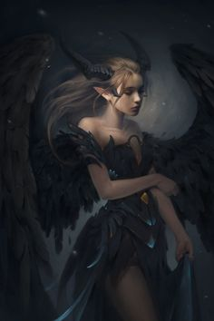 "my newest artwork - full version of "" Maleficent"" artwork!- my newest artwork – full version of "" Maleficent"" artwork! hope everybody … my newest artwork – full version of "" Maleficent""… - Dark Fantasy Art, Fantasy Artwork, Fantasy Kunst, Beautiful Fantasy Art, Demon Artwork, Fantasy Queen, Fantasy Love, Elves Fantasy, Dark Artwork"
