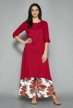 Utsa by Westside Red Kurta Salwar Designs, Kurta Designs Women, Blouse Designs, Pakistani Dress Design, Pakistani Outfits, Indian Outfits, Stylish Dress Designs, Stylish Dresses, Fashion Dresses