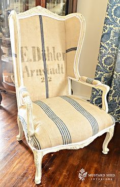 grain sack chair, or use a drop cloth and mark the design you want yourself using stencils, transfers, markers and/or paint.