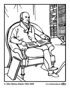 coloring page 06 john quincy adams