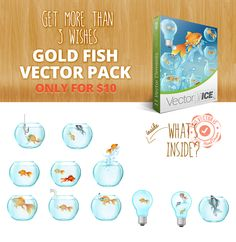 Free Vector Files, Vector Free, Golden Fish, Fish Vector, Wishes For You, Your Design, How To Draw Hands, Packing, Bag Packaging