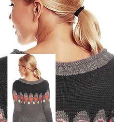 Damen Hippie Strickjacke  Norweger Jacke Pullover Wolle grau Neu Gr.L/40