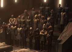 Jedi Funeral after the bombing of the Temple. :(
