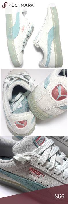 d5c5f78ce6 💘PUMA suede Green 6 NEW aqua mint green Women s Puma Suede Sneakers Upper  Leather Color