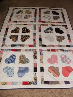 Memory quilt custom made for Debbie by sewcrazee on Etsy. Made with Memories of Mom and Dad...❤❤