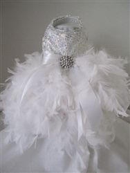 Christmas Couture Snowflake Rhinestone Dress- Apparel - Dress Posh Puppy Boutique