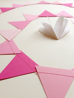 PRETTY IN PINK Bunting Banner by julamade on Etsy