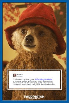 """Fans everywhere agree! Paddington is """"utterly delightful"""" and an """"absolute joy."""""""
