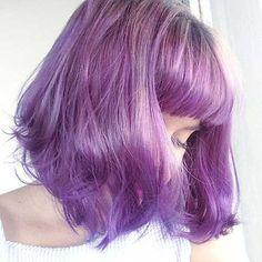 15 Good-Choice Short Haircuts with Bangs: Pale Purple Hair Color; Purple Wig, Hair Color Purple, Hair Colors, Short Haircuts With Bangs, Short Hair Cuts, Haircut Short, Short Bangs, Haircut Bob, Bob Haircuts