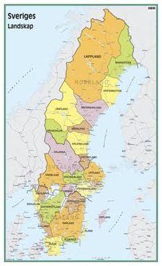 Karta över Sveriges Landskap Regionen Stockholm, Diagram, Map, World, Viajes, Location Map, Maps, The World