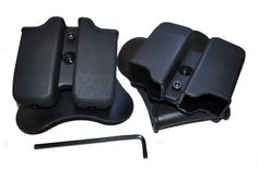 1.75″ Belt Slide Double Magazine Pouch For For Glock 9mm/.40 Mags