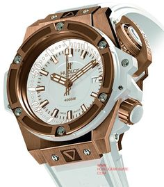 43ae4395a32 HUBLOT OCEANOGRAPHIC 4000 KING GOLD WHITE High End Watches