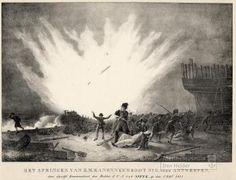 Het springen van Zr.Ms. Kanonneerboot No. 2, voor Antwerpen, door commandant J.C.J. Van Speijk, 5 februari 1831