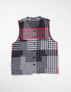 Engineered Garments - Mixed Multicoloured Plaid LDT Vest