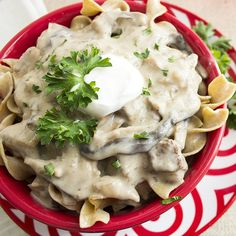 Easy Slow Cooker Beef Stroganoff | Skinny Mom | Where Moms Get the Skinny on Healthy Living
