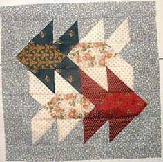 Pins and Tangled Needles: Fish Tales Quilt Block ....