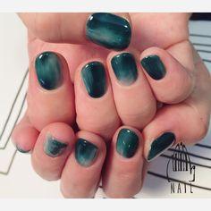 111NAILさんはInstagramを利用しています:「▫️◽️◽️ #nail#art#nailart#ネイル#ネイルアート#翡翠#green#nuance#ennui#ショートネイル#nuance111#ネイルサロン#nailsalon#表参道」