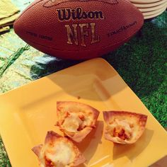 Buffalo Won Ton cups as seen on @Fox59 with @ShermanBurdette #Indy #Superbowl #Snacks