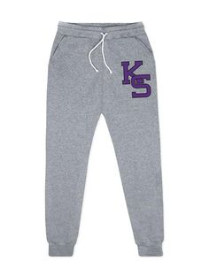 "The classic ""KS"" K-State logo can now be found on our super-soft, unisex joggers. These Kansas State joggers will keep you warm in the winter and quickly become your favorite pair of sweatpants! These joggers are not pre-shrunk, but were made so that after you wash and dry, they fit you perfectly!   50% Polyester, 37% Cotton, 13% Rayon to create the perfect blend, brushed fleece interior for super soft comfort.  Signature Hustle jogger sweatpants with front side-seam pockets and bac..."