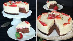 Vit chokladmoussetårta med jordgubbar – Lindas Bakskola