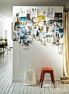 turning any plain wall into an inspiration board // elle japan