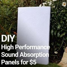 In diesem Video untersucht DIY Perks die Möglichkeit, DIY-Schallabsorption … In this video DIY Perks explores the possibility of making DIY sound absorption panels on a budget, later comparing them to much more expensive acoustic foam. The… - Heimkino Sys Acustic Panels, Sound Absorption, Acoustic Wall, Diy Acoustic Panels, Home Theater Rooms, Cinema Room, Sound Absorbing, H & M Home, Up House