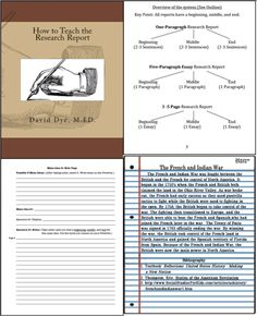 How To Teach The Research Report is the definitive book on report writing. This book takes the incredibly difficult task of research report writing and breaks it into simple, easy-to-follow steps. Begin with the one-paragraph research report and teach the basics of report writing. Progress to the five-paragraph and 3 - 5 page research reports using the exact same techniques. A must for any classroom from grades five through twelve. ($)