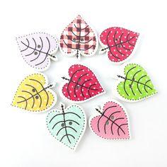 10 unids populares de lujo a granel mixta hoja accesorios botón de costura de madera scrapbooking botones decorativos hechos a mano diy nk010