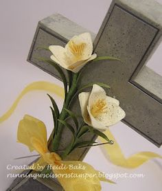 Interested in adding a decorative holiday peice to your Easter table?   Try this free-standing wedge-base cross.  It's a FREE template avail...