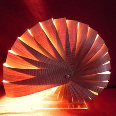 This unusual ambient lamp isinspired by nautilus and ammonite shells andmade from wood veneer.