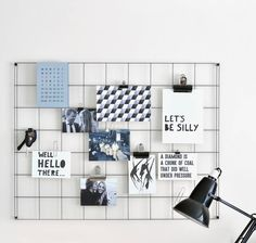 I've just found Steel Wire Mesh Noticeboard. A clean and minimalist noticeboard, designed and made in England from steel wire. Perfect for making moodboards and displaying photos in your new home.. £35.25