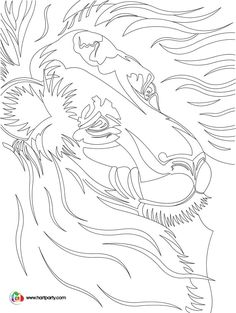 Luminary Lion sketch tracable and coloring page for the youtube show Art Sherpa https://www.youtube.com/watch?v=1YcyMoDibOQ