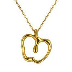 Tiffany & Co. Golden Mix, Gold Necklace, Pendant Necklace, Elsa, Tiffany, 18k Gold, Apple, Jewelry, Apple Fruit